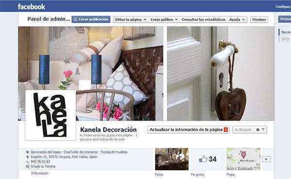 Kanela decoración en facebook